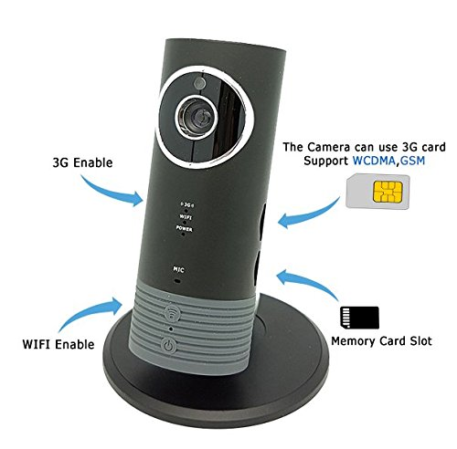 Cleverdog 3g Wifi Sim Card Smart Ip Camera And Remote Monitor Silver Silver