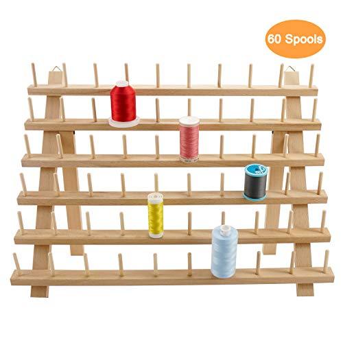 New brothread 60 Carretes Organizador de hilo de madera/estante de hil