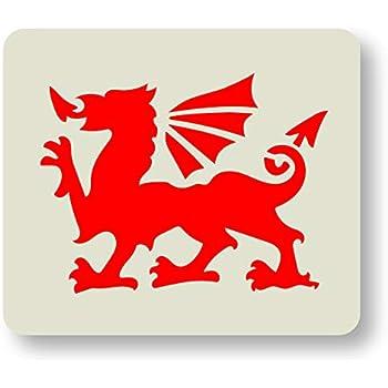 Welsh Dragon Stencil by CraftStar Reusable Dragon Stencil 23 x 17 cm