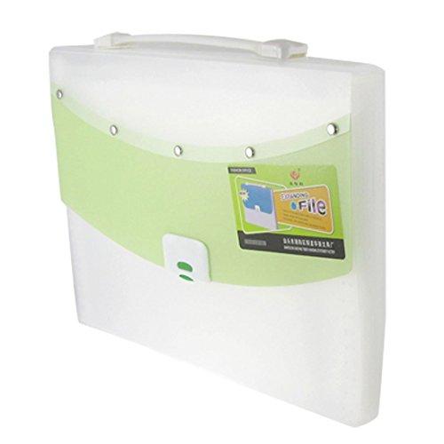 Sourcingmap 13 compartiments Fermeture de sac à main Vert/Blanc