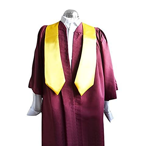 Einzel: Rotwein Chor Robe mit Gold Satin Stahl - 169cm-177cm