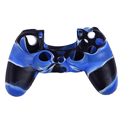 MNRIUOCII PS4 Funda para Cubrir el Mando de PS4 Camuflaje Funda Antideslizante de Silicona Carcasa Protectora de Empuñadura para los Pulgares Wireless Controller Gamepad