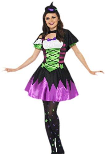 erdbeerloft - Mädchen Kostüm Teenager Punk Hexe, M, Mehrfarbig