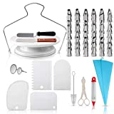 cake decorating supplies kit baking set 73-pieces mouth tool diy dessert decoration bake