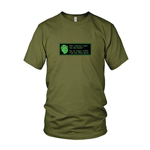 Radioactive Interest Level - Herren T-Shirt, Größe: XXL, Farbe: army