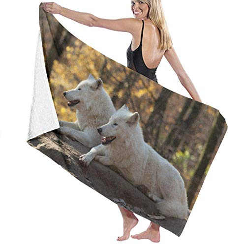 xcvgcxcvasda Serviette de bain, Beach Bath White Wolves Personalized Custom Women Men Quick Dry Lightweight Beach & Bath Blanket Great for Beach Trips, Pool, Swimming and Camping 31
