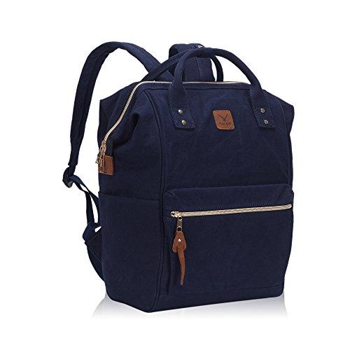 Imagen de veevan bolso  casual de lona unisex para ordenador portátil de 15,6 pulgadas azul oscuro alternativa