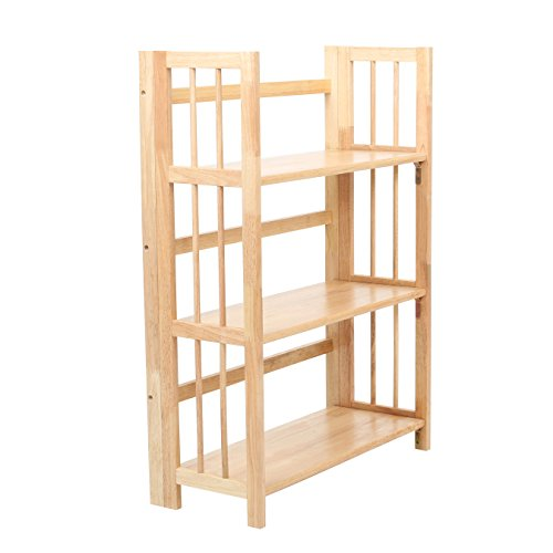 Premier Housewares Mobile con 3 scaffali in legno di albero della gomma, 96 x 70 x 30 cm