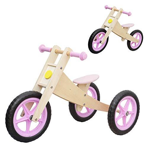 Vinz Laufrad 2 in 1 | Kinderlaufrad Lernlaufrad Lauflernrad | ab 1 Jahre (18 Monaten) | Kinder Fahrrad Dreirad Kinderdreirad (Rosa)