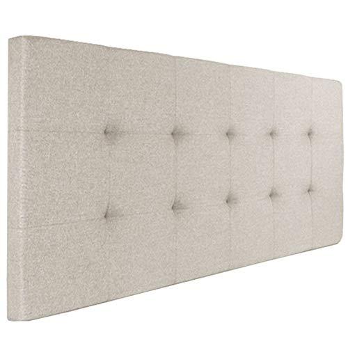 IDMarket - Tête de lit capitonnée en Tissu 160x58 cm écrue