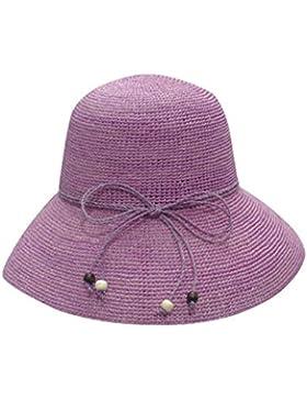donna estate paglietta marina spiaggia cappello cappello di Sun pieghevole Protezione solare sunhat cappello estivo...