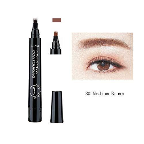 Augenbrauenstift - Flüssiger langlebiger Farbton-Augenbrauen-Stift mit vier Spitzenwasserdichter...