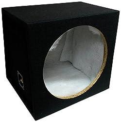 """In Phase 12"""" Subwoofer Enclosure Black Acoustic Sealed Subwoofer Box"""