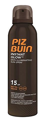 Spf 30 Kinder-spray (Piz Buin Instant Glow Skin Illuminating Sun Spray LSF 15, Wasserfestes Sonnenschutz Spray mit zartem Goldschimmer Effekt, Nicht fettend, 1er Pack (1 x 150 ml))