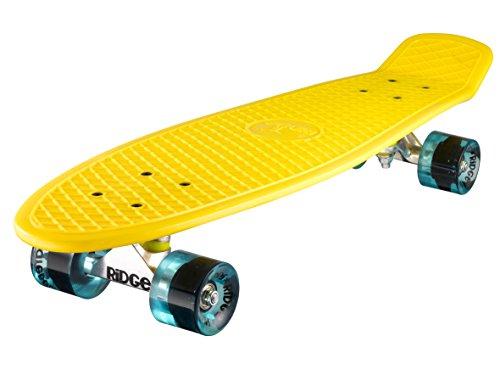 """Preisvergleich Produktbild Ridge 27"""" Big Brother Mini Cruiser Board 69cm Retro Skateboard,  komplett,  in gelb,  völlig in der EU entworfen und hergestellt"""