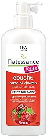 Natessance Kids Gel Douche Fraise Corps et Cheveux sans Sulfates