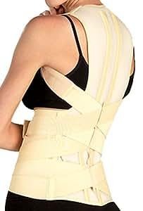 Tonus Elast Correcteur de posture Ceinture lombaire et bretelles pour soutien du dos et des épaules (L)