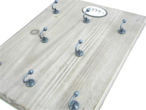 Schlüsselbrett Holz Messing Haken Korridor Keyboard for hanging Keys key rack (Holz-schlüsselbrett)