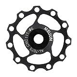11T / 13T Stützrad, Durable Aluminiumlegierung Bering Mountain Road Fahrrad Schaltwerk Jockey Riemenscheibe(11T-Schwarz)