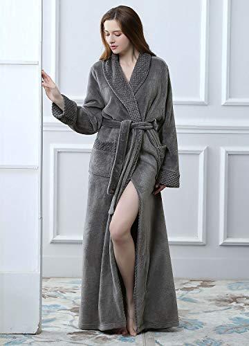 e50ee94e3e11 Womens Long Fleece Robes Luxurious Plush Bathrobe Full Length Pajamas  Sleepwear