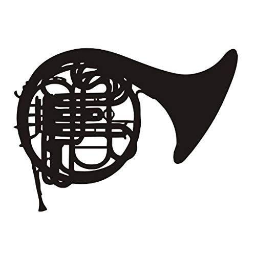Cartoon Musik Wandaufkleber Hinweis Posaune Musikinstrument Schlafzimmer Abnehmbare Vinyl Aufkleber Zimmer 59x43 cm