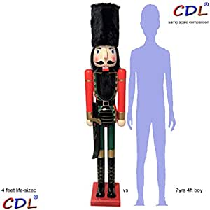 Cdl 120cm 48 4ft tall life size large giant christmas for 4 foot nutcracker decoration