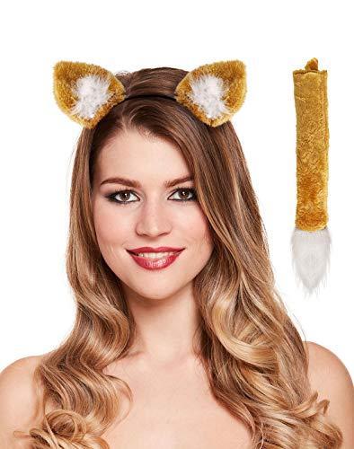 Islander Fashions Sexy Katze Fuchs und L�wenohren Alice Band Kost�m Buch Week Day Party Zubeh�r (Fox Set) One Size