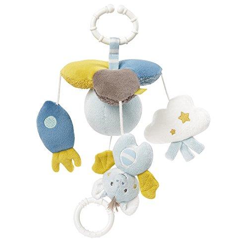 Fehn 065169 Mini-Musik-Mobile Little Castle / Spieluhr-Mobile für Unterwegs zum Befestigen an Kinderwagen oder Babyschale - für Babys und Kleinkinder ab 0+ Monaten