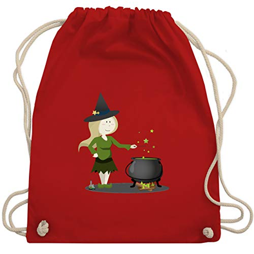 Anlässe Kinder - kleine Hexe - Unisize - Rot - WM110 - Turnbeutel & Gym Bag