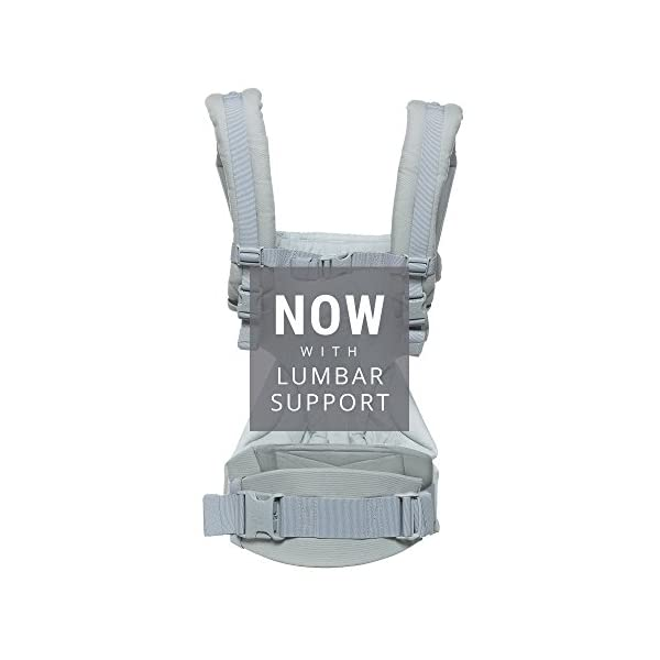 Ergobaby Baby Carrier up to 3 years (12-45 lbs) 360 Pearl Grey, 4 Ergonomic Carry Positions, Front Facing Baby Carrier, Child Carrier Backpack Ergobaby Ergonomic carrier with 4ergonomic carry positions: front-inward, back, hips, and front-outward. New - the waist belt with lumbar support can be worn a little higher or lower to support the lower back and provide optimal comfort, and has adjustable padded shoulder straps. Maximum baby comfort - the structured bucket seat supports the correct frog-leg position for the baby. 2