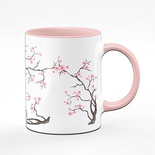 Tasse Cherry Blossom Teetasse - Kaffeetasse in Rosa mit Kirschblüten