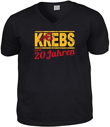Cooles V-Neck - T-Shirt als Geschenk zum 21. Geburtstag - Super Funshirt - Goodman Design® Gr: Farbe: schwarz Schwarz