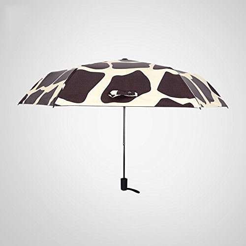 Global- Ad alta densità NC panno dell'ombrello panno in fibra di carbonio Portaombrelli protezione solare ombrellone, ombrello pieghevole per adulti a duplice uso Tre Umbrella Fold