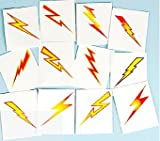 Pack of 12 - Lightning Bolts Temporary Tattoos Party Loot Bag Fillers (Toy)