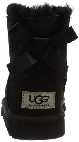 UGG Unisex Baby Mini Bailey Bow Krabbelschuhe Schwarz (Nero)