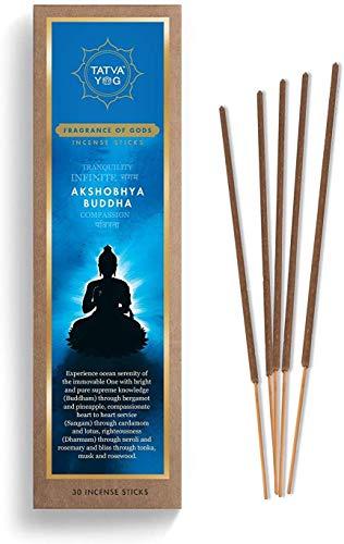 TatvaYog Akshobhya Buddha Incense Stick (30 Sticks in Each Pack)
