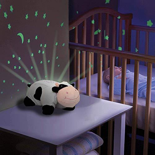 HSP Himoto 2in1 Nachtlicht und Sternenhimmel Projektor für Baby Kinderzimmer, 3 mögliche LED Farblichter (blau, rot und grün) Einstellbar, Auto-Off Funktion und viele...