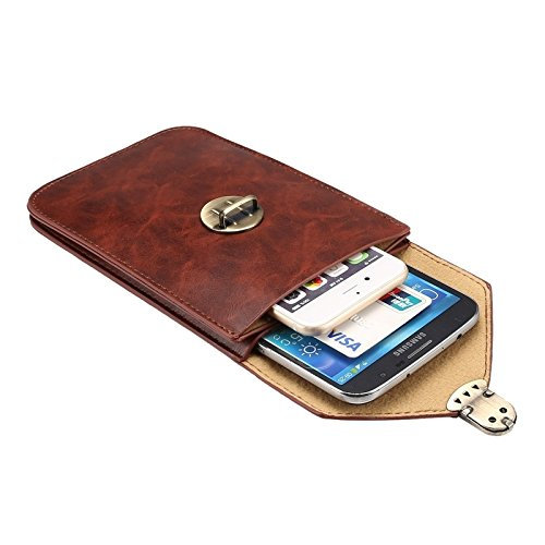 Pour iPhone 6 Plus / 6S Plus, Samsung Galaxy S7 Edge / G935 & S6 Edge + / G928 / Note 5 / N920 / A8 / A800 / Note IV / N910, 5.7 pouces Universal Crack Horse Crack Horse Vertical Trois couches Housse  Coffee