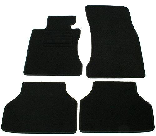 AD Tuning GmbH hg10003Terciopelo Ajuste Soporte Negro Auto Juego de Alfombrillas para alfombras Alfombras Carpet Floor Mats
