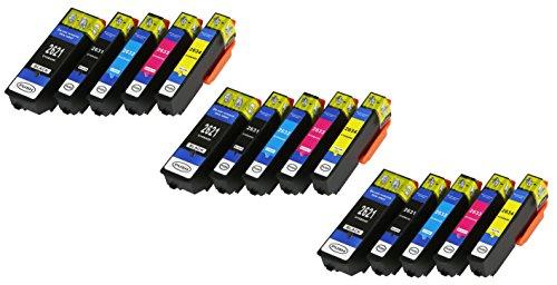 15 XL Druckerpatronen mit CHIP und Füllstandanzeige für Epson Expression Premium XP-510, XP-520, XP-600, XP-605, XP-610, XP-615, XP-620, XP-625, XP-700, XP-710, XP-720, XP-800, XP-810, XP-820