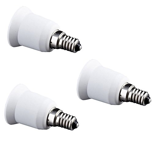 Fineled Adaptateurs de lampes pour ampoules culots E27 sur prise E14 (lot de 3)