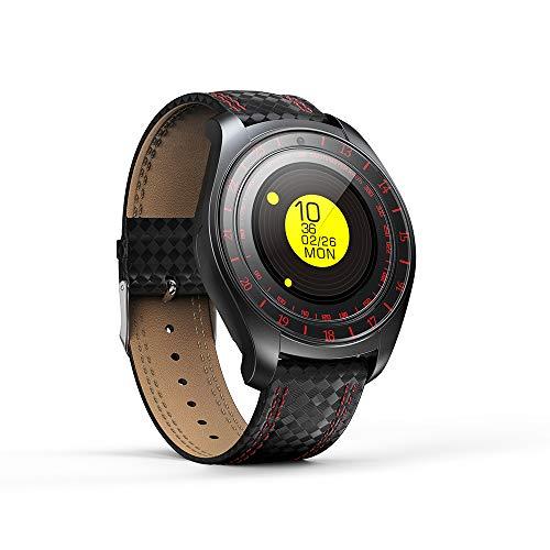 SZHAIYU Smart Watch für männer Frauen schrittzähler unterstützung SIM tf Karte Kamera herzfrequenz smartwatch Telefon für Android (ROT) -