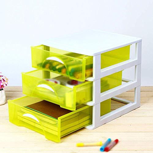 WG Haushalts-Aufbewahrungsbox Massivholz, einfaches Büro-Schreibtisch-Briefpapier Mehrschichtige Schublade Transparenter Kunststoff Täglicher Bedarf,36 * 38,4 * 31,2 cm