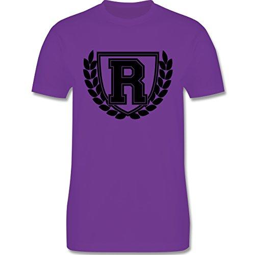 Anfangsbuchstaben - R Collegestyle - Herren Premium T-Shirt Lila