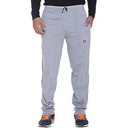 Vimal Men's Solid Cotton Trackpants (D1_Grey_Medium)