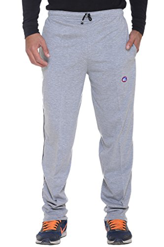 Vimal Men's Solid Cotton Trackpants (D1_Grey_Medium)