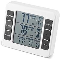 Digital Kühlschrank Thermometer, drahtlos Gefrierschrank Thermometer mit 2 Sensor für Zuhause, Restaurants, Bars, Cafés