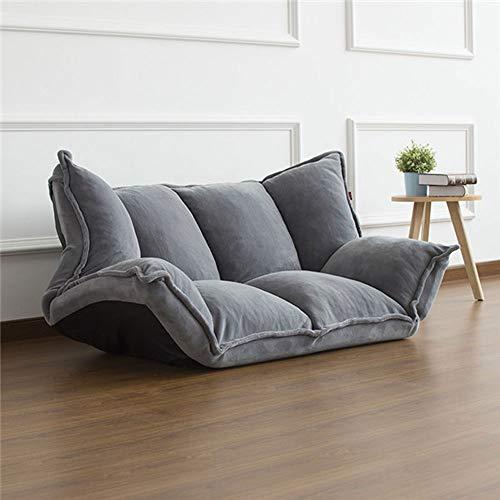 KY Schlafsofa Bodenmöbel Reclining Futon Schlafsofa Klapp Verstellbare Sleeper Chaise Lounge Recliner for Wohnzimmer Sofa Schlaffunktion Bettsofa (Color : Gray) -