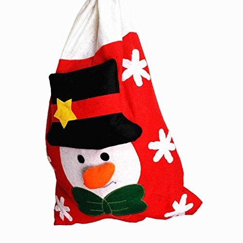 AMUSTER Mode Sacchetti Di Regalo Della Decorazione Del Partito Di Natale Di Natale Sveglio Della Borsa Di Caramella Dolce Grande (A)