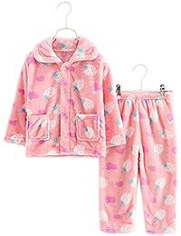 Flannel Niños pijama traje suave Strawberry Coral Velvet Sleepwear Nightcloth